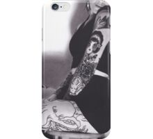 Realism Charcoal Drawing of Sexy Woman with Tattoos iPhone Case/Skin