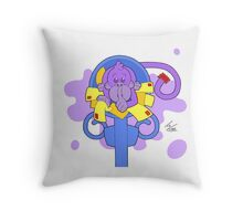 There's A Monkey Hiding In My Mail! Throw Pillow