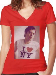 Jimmy Fallon Women's Fitted V-Neck T-Shirt