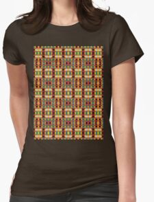 gold and rust blocks Womens Fitted T-Shirt