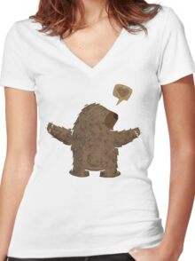 ABRAZO DE OSO Women's Fitted V-Neck T-Shirt