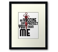 No Vaccine Framed Print