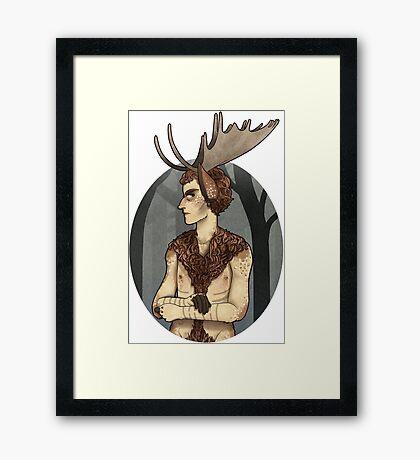 unhappy moosecroft Framed Print