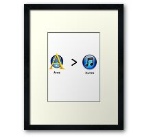 Ares Over Itunes Framed Print