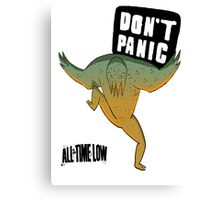 Don't Panic All Time Low Canvas Print