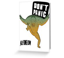 Don't Panic All Time Low Greeting Card