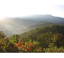 First Light,  Smokey Mountains Photographic Print
