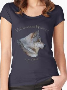 """Wilderness Warrior"" Women's Fitted Scoop T-Shirt"