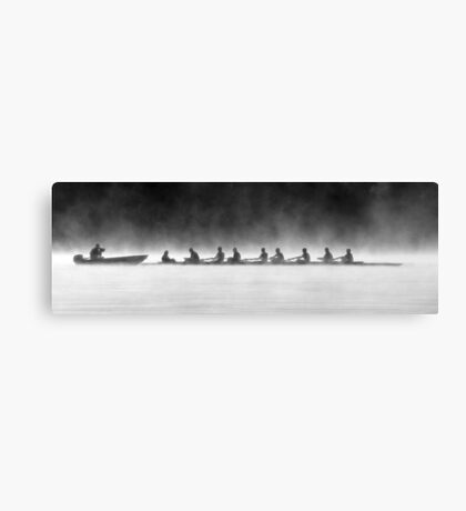 Rowing on a Misty Morning Canvas Print
