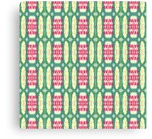 pink and green ovals Canvas Print