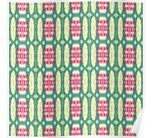 pink and green ovals Poster
