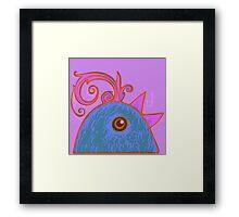 Blue cock Framed Print
