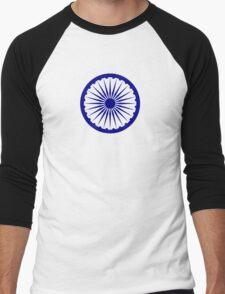 Ashoka Chakra Men's Baseball ¾ T-Shirt