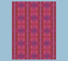 purple and blue square spirals Kids Clothes