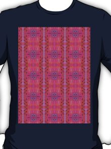 purple and blue square spirals T-Shirt