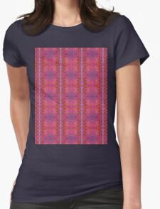 purple and blue square spirals Womens Fitted T-Shirt