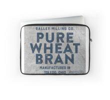 Vintage Feed Sack Wheat Bran Laptop Sleeve