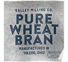 Vintage Feed Sack Wheat Bran Poster