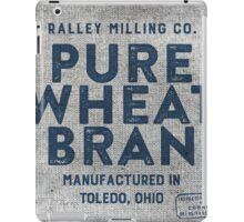 Vintage Feed Sack Wheat Bran iPad Case/Skin