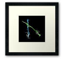 Pair of lightsabers Framed Print