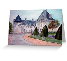 Watercolour                      Chateau  du Mung  Greeting Card