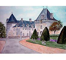 Watercolour                      Chateau  du Mung  Photographic Print