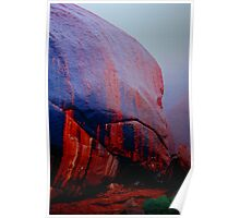 Uluru Painted By The Rains Poster