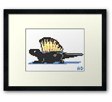 8-bit Dimetrodon Framed Print