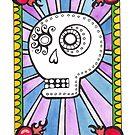 Sugar Skull with Hearts by Clara Batton Smith