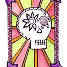 Sugar Skull with Stars by Clara Batton Smith