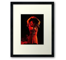 polka dot flamenco Framed Print