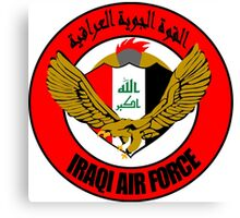 Emblem of the Iraqi Air Force  Canvas Print