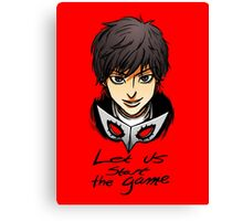 Let Us Start the Game Canvas Print