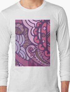 Purple pattern Long Sleeve T-Shirt