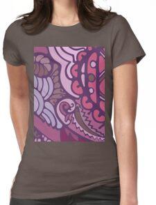 Purple pattern Womens Fitted T-Shirt