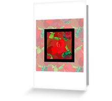 Red roses pattern Greeting Card