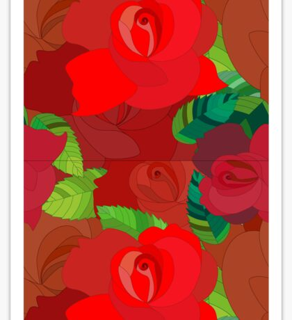 Red roses pattern Sticker