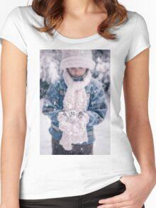 snowman Women's Fitted Scoop T-Shirt