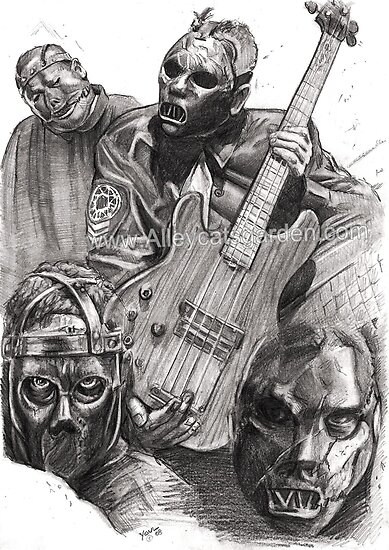 Paul Gray - Slipknot Bass by Alleycatsgarden