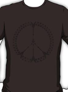peace love rock'n'roll | black ink edition T-Shirt