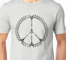 peace love rock'n'roll | black ink edition Unisex T-Shirt