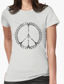 peace love rock'n'roll | black ink edition Womens Fitted T-Shirt