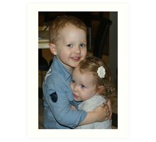 My Grandchildren Jack & Ava Art Print