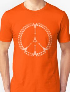 peace love rock'n'roll | white ink edition Unisex T-Shirt