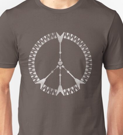 peace love rock'n'roll | white ink edition T-Shirt
