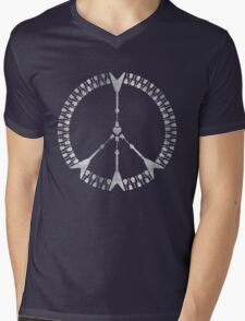 peace love rock'n'roll | white ink edition Mens V-Neck T-Shirt