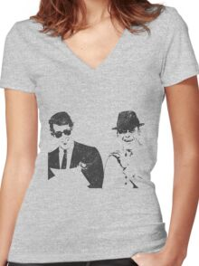 sinatra  Women's Fitted V-Neck T-Shirt