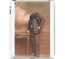 Repainted Vintage Photo in Oils - Dog Face iPad Case/Skin