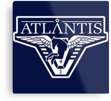 Atlantis Logo (Inverted) Metal Print