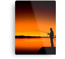 River Fishing Metal Print